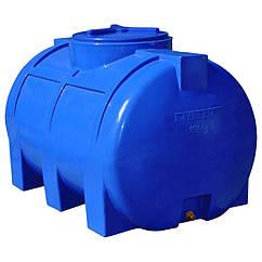 Емкость Рото Европласт горизонтальная двухслойная 350 л Синяя 38 ZZ, КОД: 1881663