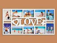 Фоторамка настенная Love