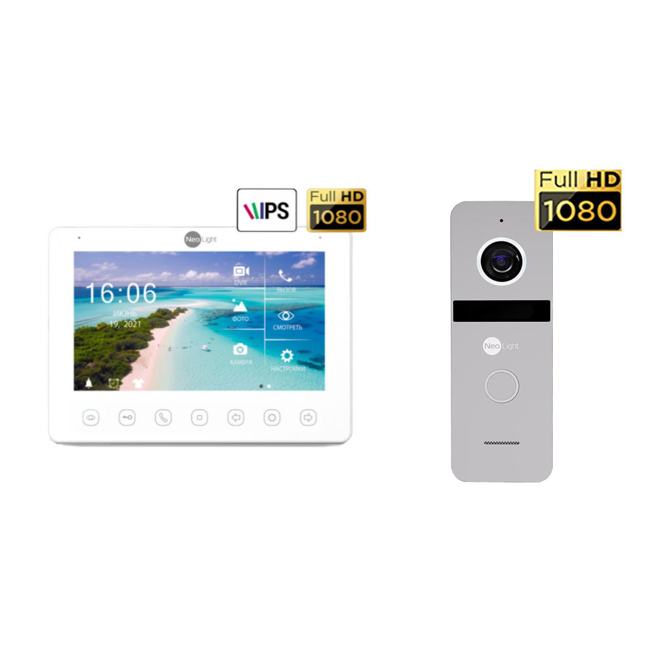 Комплект видеодомофона NeoKIT HD+ Silver