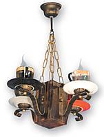 Люстра деревянная для дома в стиле Лофт