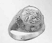 Кольцо серебряное Георгий Победоносец КП 1138