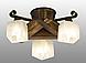 Люстра потолочная из натурального дерева на 3 плафона 310413, фото 2