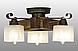 Люстра потолочная из натурального дерева на 3 плафона 310413, фото 3