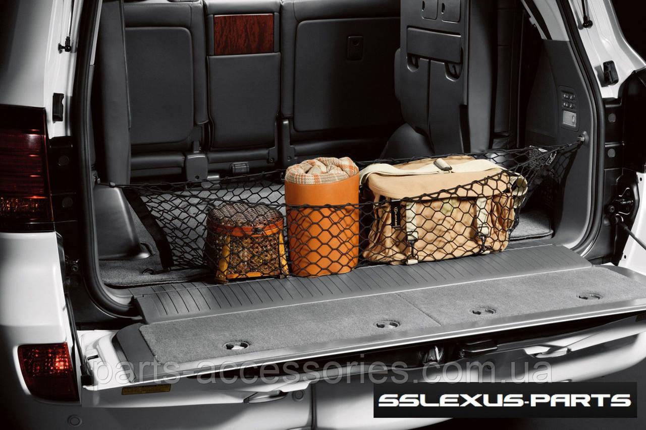 Lexus LX570 2007-2016 прижимная сетка в багажник вертикальная новая оригинал