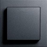 Выключатель одноклавишный Gira E2 антрацит/антрацит