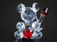 Фигурка Мишка с сердцем и розой