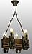Деревянная люстра для бара на 4 свечи 130524, фото 2