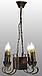 Деревянная люстра для бара на 4 свечи 130524, фото 3
