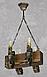 Деревянная люстра для бара на 4 свечи 130524, фото 4