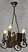 Деревянная люстра для бара на 4 свечи 130524, фото 5