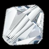 Кришталеві біконуси Preciosa (Чехія) 3 мм Crystal