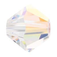 Кришталеві біконуси Preciosa (Чехія) 3 мм Crystal AB