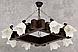 Шикарная люстра из дерева на 8 плафонов 230618, фото 2