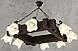 Шикарная люстра из дерева на 8 плафонов 230618, фото 4