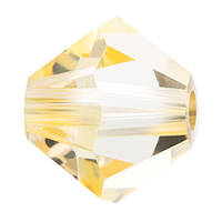 Кришталеві біконуси Crystal з покриттям Preciosa (Чехія) 3 мм, Crystal Blond Flare