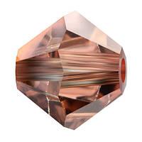 Кришталеві біконуси Crystal з покриттям Preciosa (Чехія) 3 мм, Crystal Capri Gold