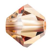 Кришталеві біконуси Crystal з покриттям Preciosa (Чехія) 3 мм, Crystal Celsian