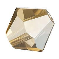 Кришталеві біконуси Crystal з покриттям Preciosa (Чехія) 3 мм, Crystal Golden Flare