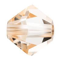 Кришталеві біконуси Crystal з покриттям Preciosa (Чехія) 3 мм, Crystal Honey
