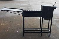 Мангал сталь 4 мм с откидным столиком и печью под казан