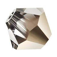 Кришталеві біконуси Crystal з покриттям Preciosa (Чехія) 3 мм, Crystal Starlight Gold