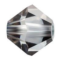 Кришталеві біконуси Preciosa (Чехія) 3 мм Crystal Valentinite