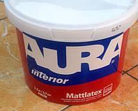 Высококачественная водно-дисперсионная краска для потолков и стен   Mattlatex AURA  (10 л/ 14,8 кг), фото 1