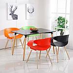 Стіл обідній МДФ Нури  чорний, квадратний, дерево, что НЕ розкладний 80х80 см, фото 2
