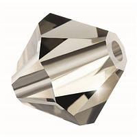 Кришталеві біконуси Preciosa (Чехія) 3 мм Black Diamond
