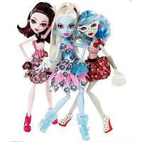 Набор кукол Monster High Смертельно Прекрасный Горошек - Дракулаура,Эбби и Гулия.  Exclusive Dot Dead Gorgeous