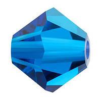 Кольорові кришталеві біконуси Preciosa (Чехія) 3 мм, Capri Blue
