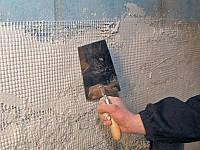 Шпатлевка по стекловолокнистой сетке