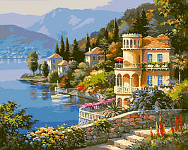 Картина по номерам VP019 Цветущее побережье 40 х 50 см