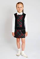Сарафан для девочки школьный зеленый, платье в школу, школьная форма, классический сарафан для девочки