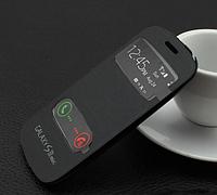 Черный чехол-книжка с окошками к Samsung S3 mini i9180