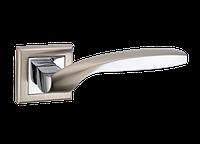 """Дверная ручка на розетке MVM """"TEZA"""" Z-1325 SN/CP (матовый никель/полированный хром)"""