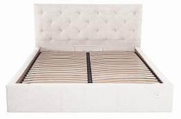 Кровать Двуспальная Richman Бристоль 160 х 190 см Мисти Milk Бежевая ZZ, КОД: 2503305
