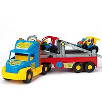 Игрушечная машинка Тягач-автовоз из серии Super Truck Wader (36630)