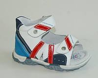 Босоножки для мальчиков B&G арт.LD113-66H2W белый-синий-красн (Размеры: 21-26)