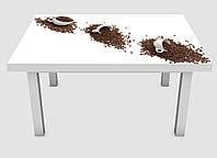 Наклейка на стол Zatarga Чашки и зерна кофе 600х1200 мм Z180215 FG, КОД: 1804641