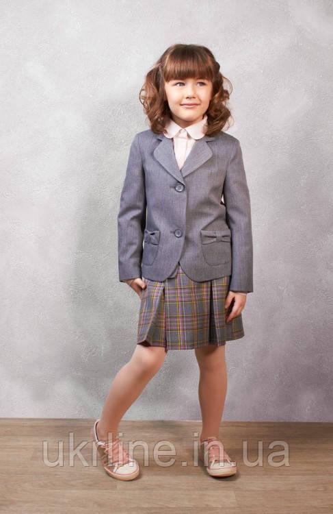 Юбка школьная серая фото