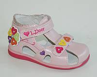 Босоножки для девочек B&G арт.LD13A3-012 роз сердечки (Размеры: 21-26)