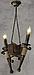 Деревянная люстра в стиле Лофт факел на 2 свечи 160722, фото 3