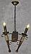 Деревянная люстра в стиле Лофт факел на 2 свечи 160722, фото 4