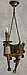 Деревянная люстра в стиле Лофт факел на 2 свечи 160722, фото 5