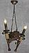Деревянная люстра в стиле Лофт факел на 2 свечи 160722, фото 7