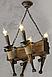 Люстра в стиле Лофт из натурального дерева на 4 факела 160724, фото 3