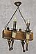 Люстра в стиле Лофт из натурального дерева на 4 факела 160724, фото 6