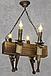 Люстра в стиле Лофт из натурального дерева на 4 факела 160724, фото 7