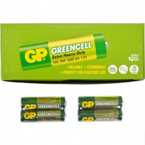 Батарейка GP Greencell пальчиковая 15G-S2 солевая R6P, AA